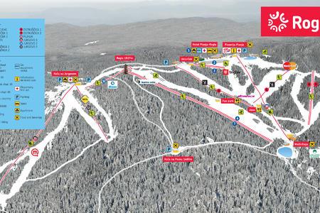 Rogla-map of ski resort